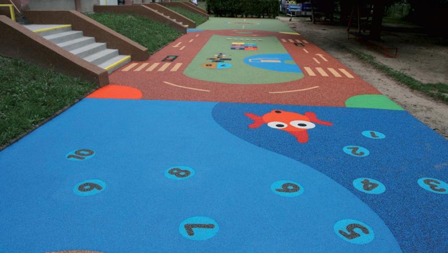 Pavimento In Gomma Per Bambini : Gomma colata urban design